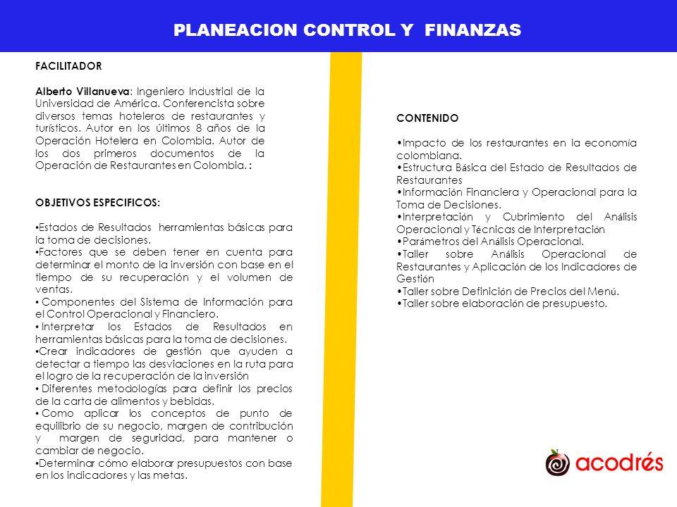 GESTION DE TALENTO HUMANO PLANEACION CONTROL Y FINANZAS
