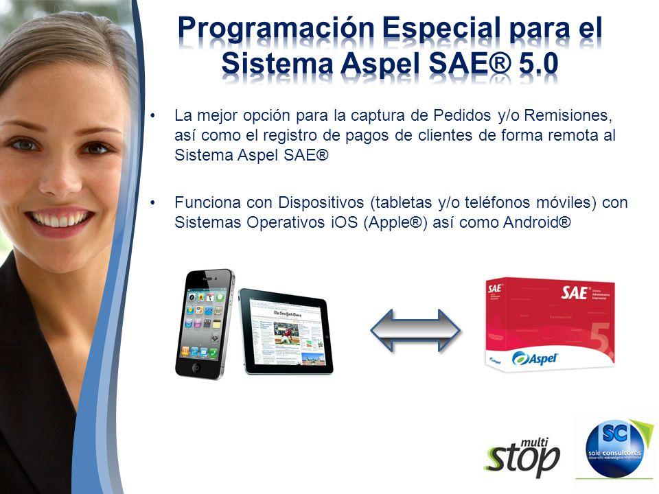 Programación Especial para el Sistema Aspel SAE® 5.0