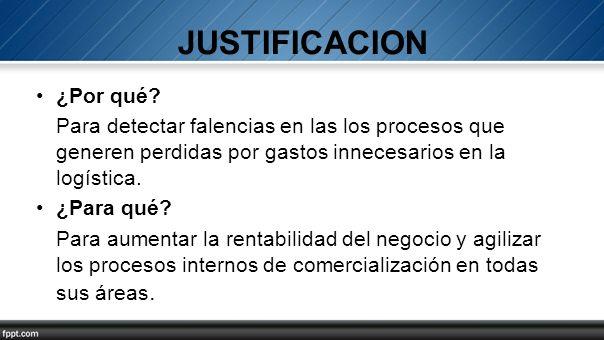 JUSTIFICACION ¿Por qué