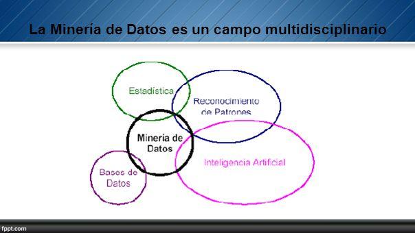 La Minería de Datos es un campo multidisciplinario