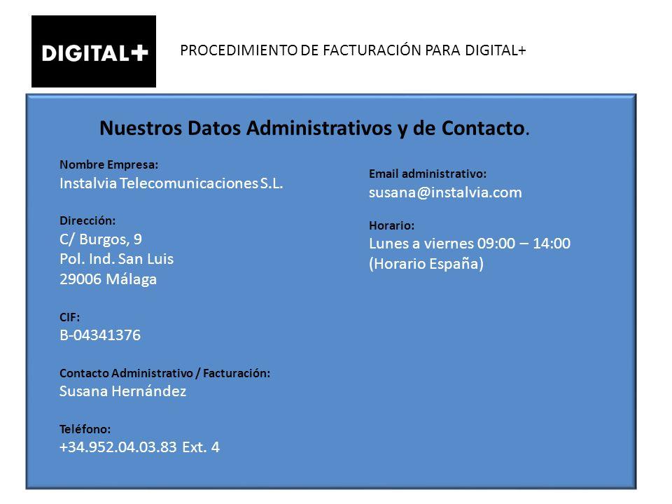 Nuestros Datos Administrativos y de Contacto.