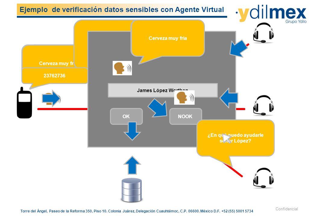 Ejemplo de verificación datos sensibles con Agente Virtual