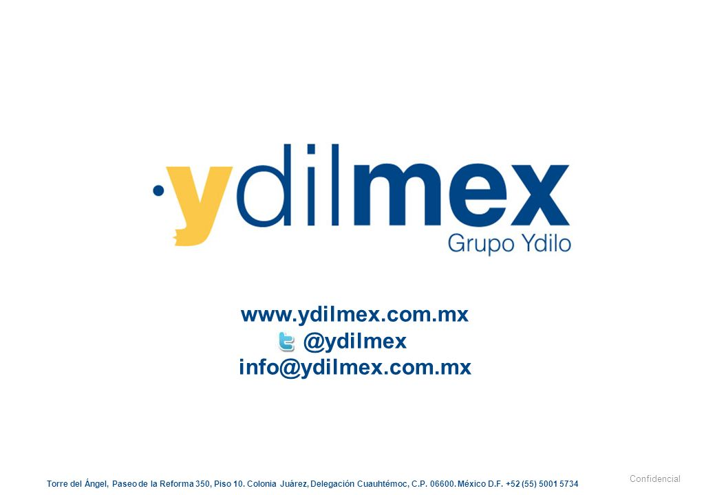 www.ydilmex.com.mx @ydilmex info@ydilmex.com.mx