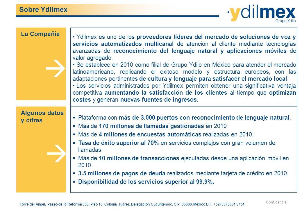    Sobre Ydilmex La Compañía Algunos datos y cifras