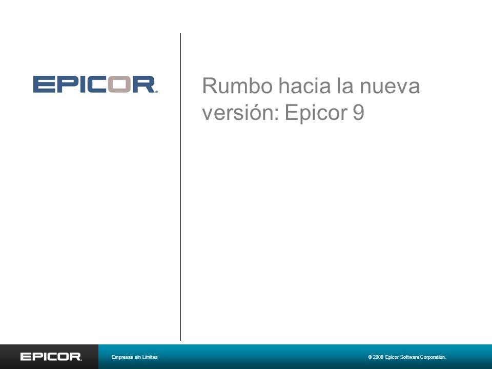 Rumbo hacia la nueva versión: Epicor 9