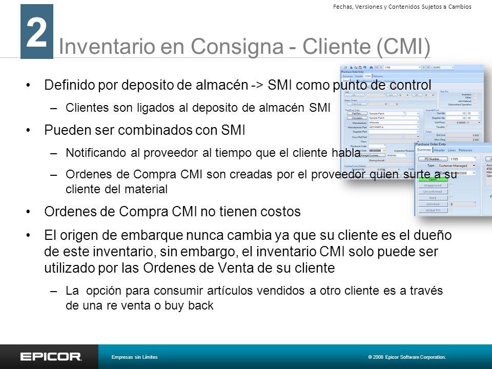 Inventario en Consigna - Cliente (CMI)