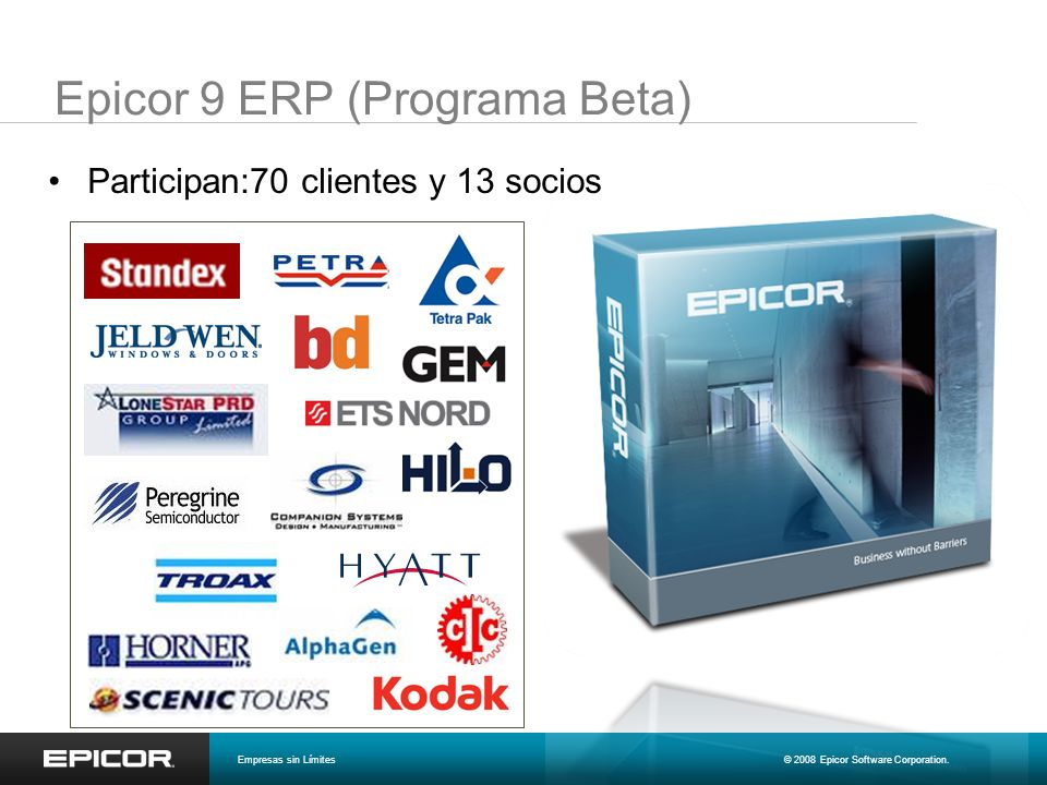 Epicor 9 ERP (Programa Beta)