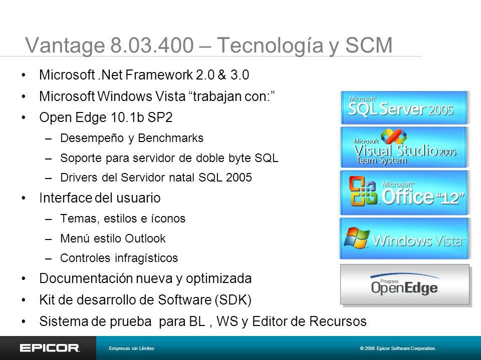 Vantage 8.03.400 – Tecnología y SCM