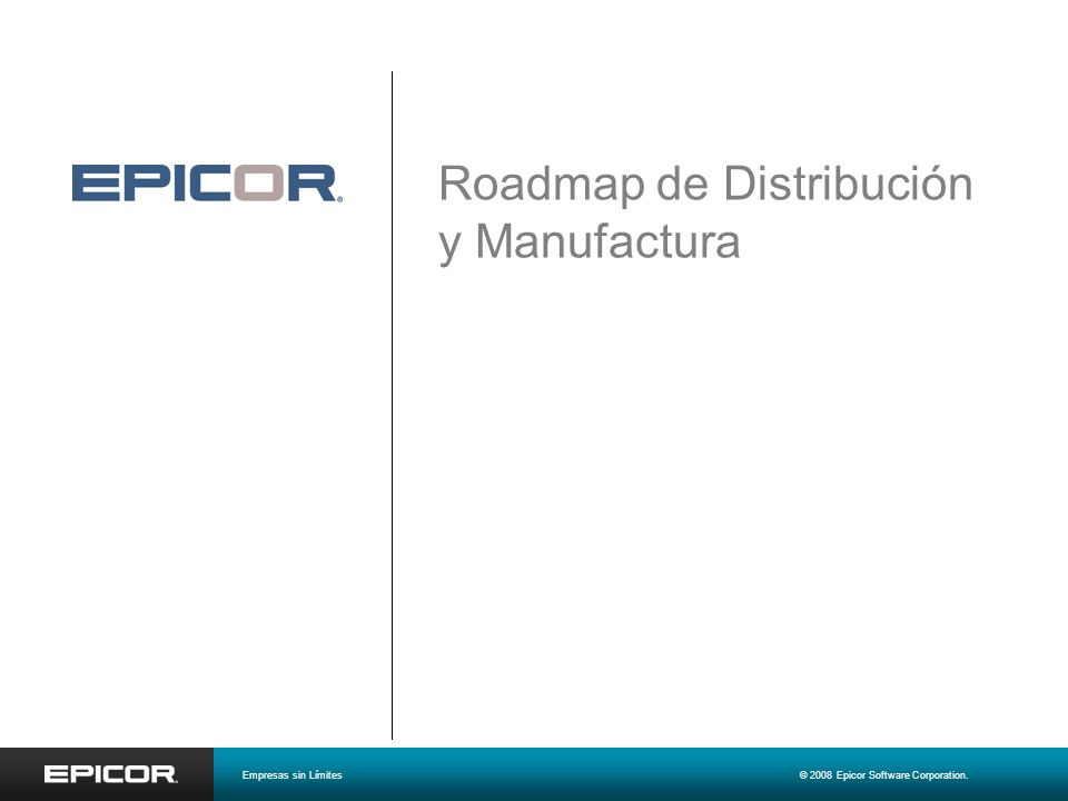 Roadmap de Distribución y Manufactura
