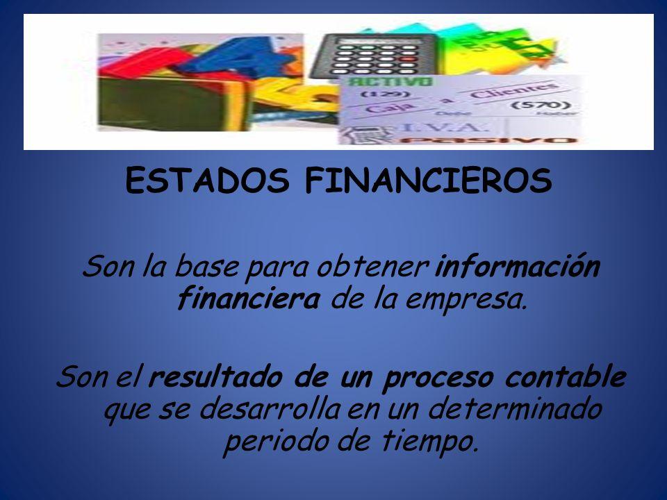 Son la base para obtener información financiera de la empresa.