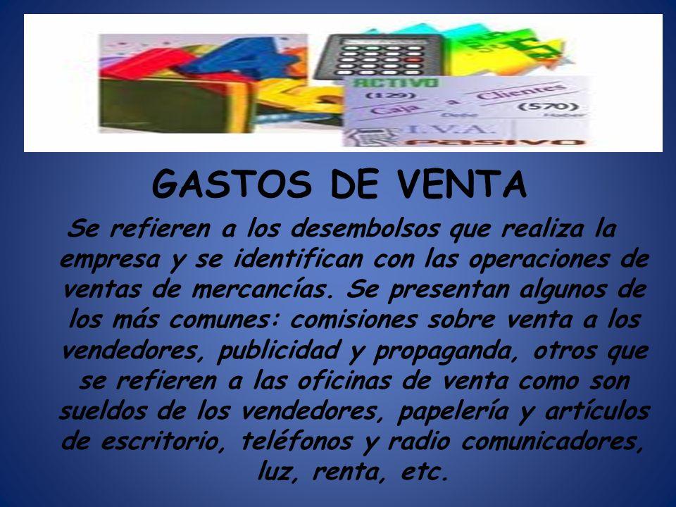 GASTOS DE VENTA