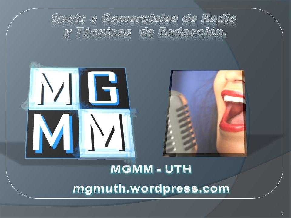 Spots o Comerciales de Radio y Técnicas de Redacción.