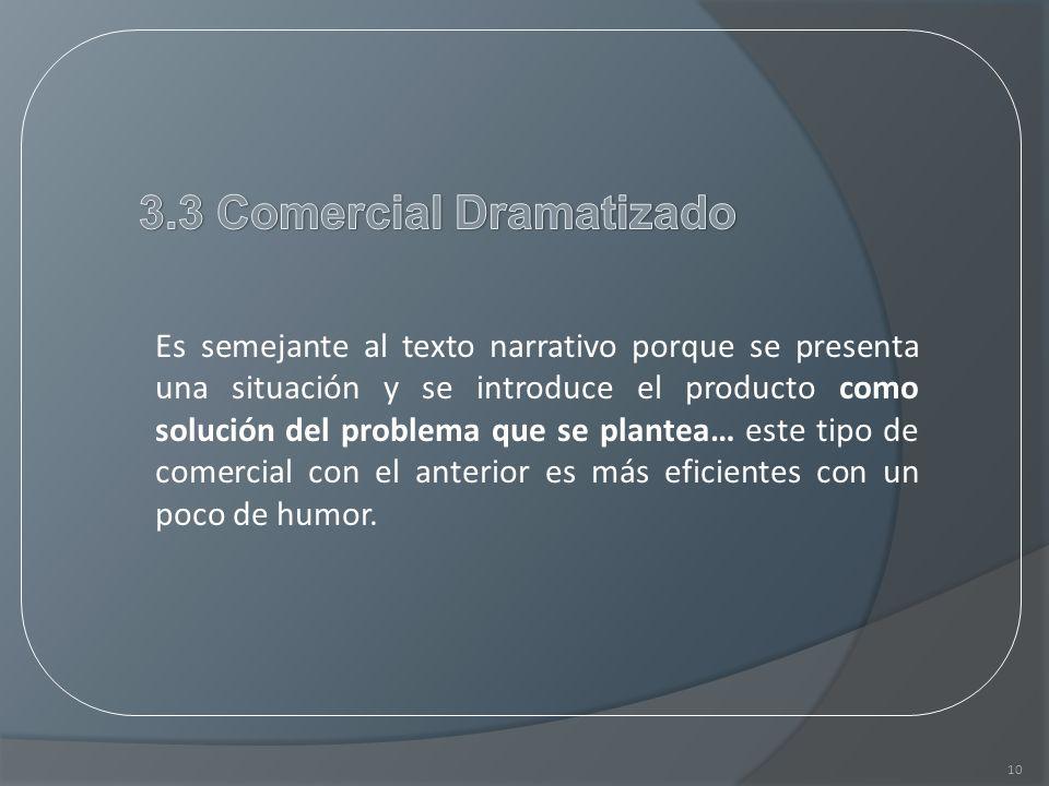 3.3 Comercial Dramatizado