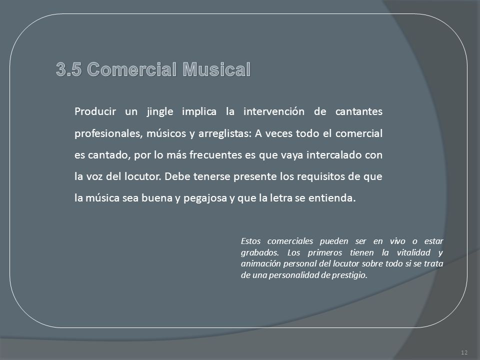 3.5 Comercial Musical
