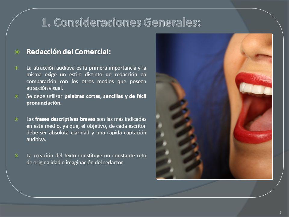 1. Consideraciones Generales: