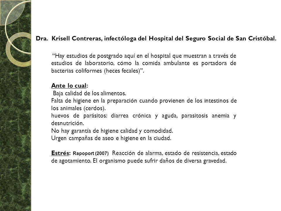 Dra. Krisell Contreras, infectóloga del Hospital del Seguro Social de San Cristóbal.