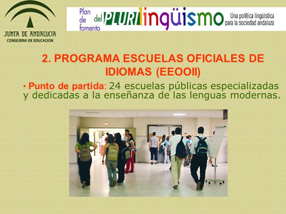 2. PROGRAMA ESCUELAS OFICIALES DE IDIOMAS (EEOOII)