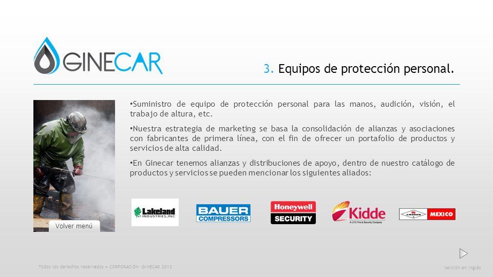 3. Equipos de protección personal.