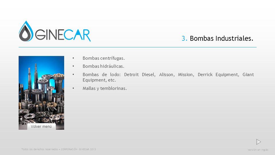 3. Bombas Industriales. Bombas centrífugas. Bombas hidráulicas.