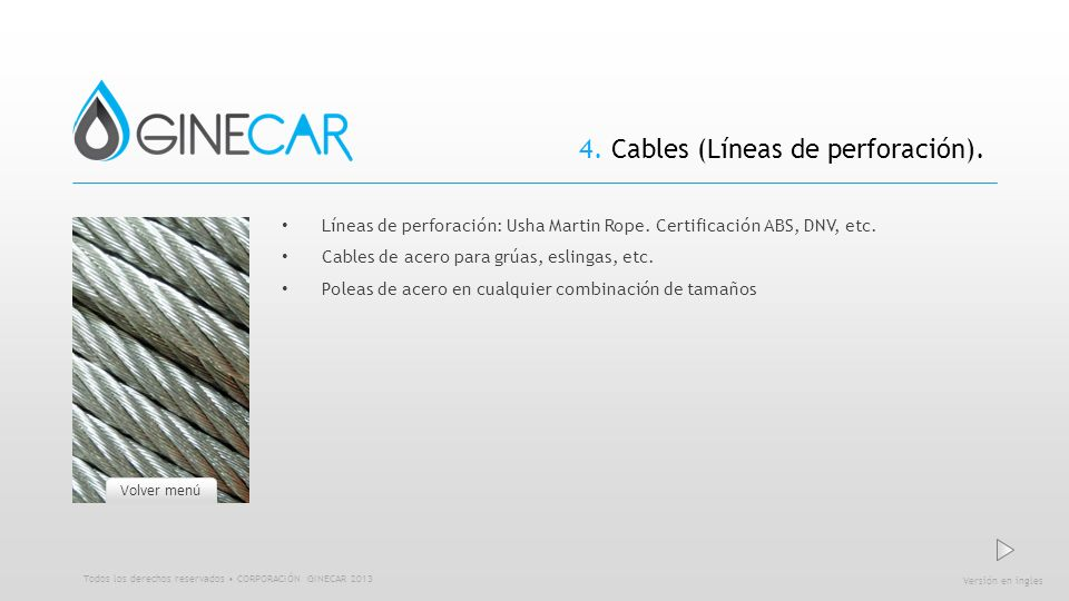 4. Cables (Líneas de perforación).