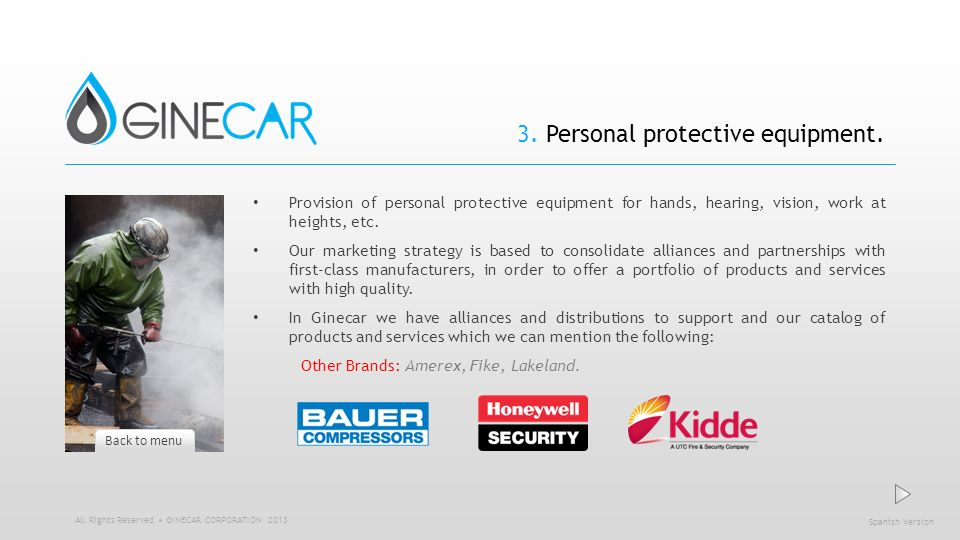 3. Personal protective equipment.