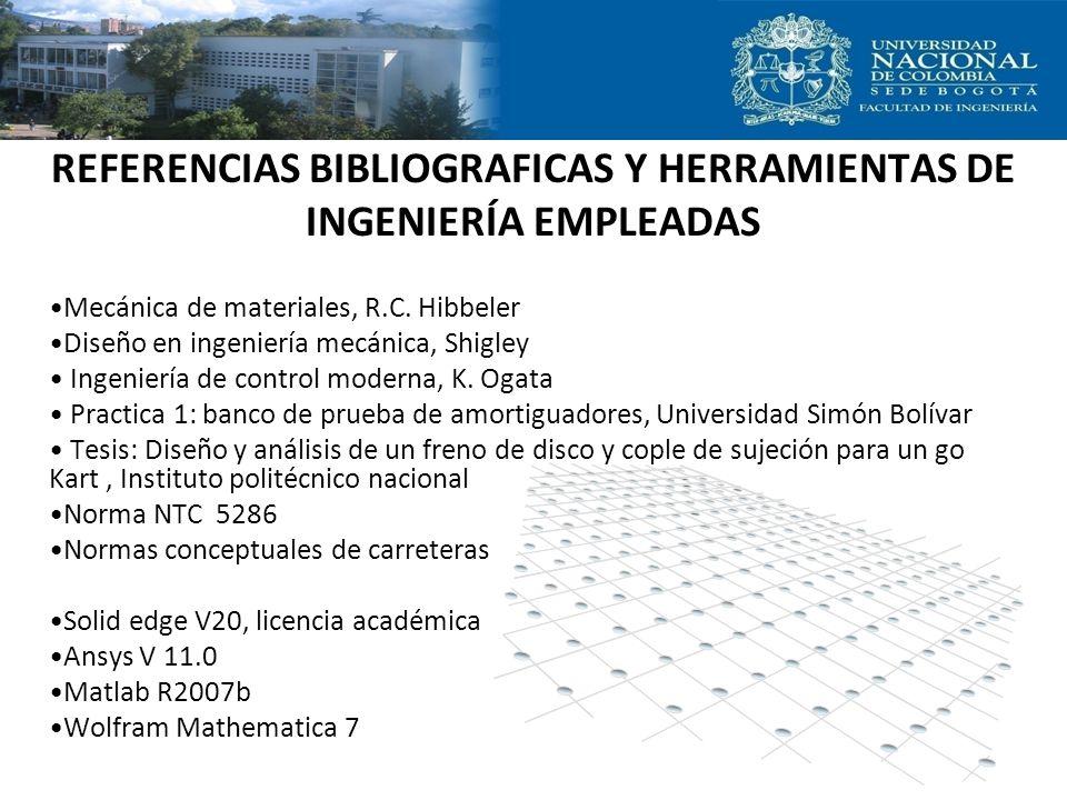 REFERENCIAS BIBLIOGRAFICAS Y HERRAMIENTAS DE INGENIERÍA EMPLEADAS