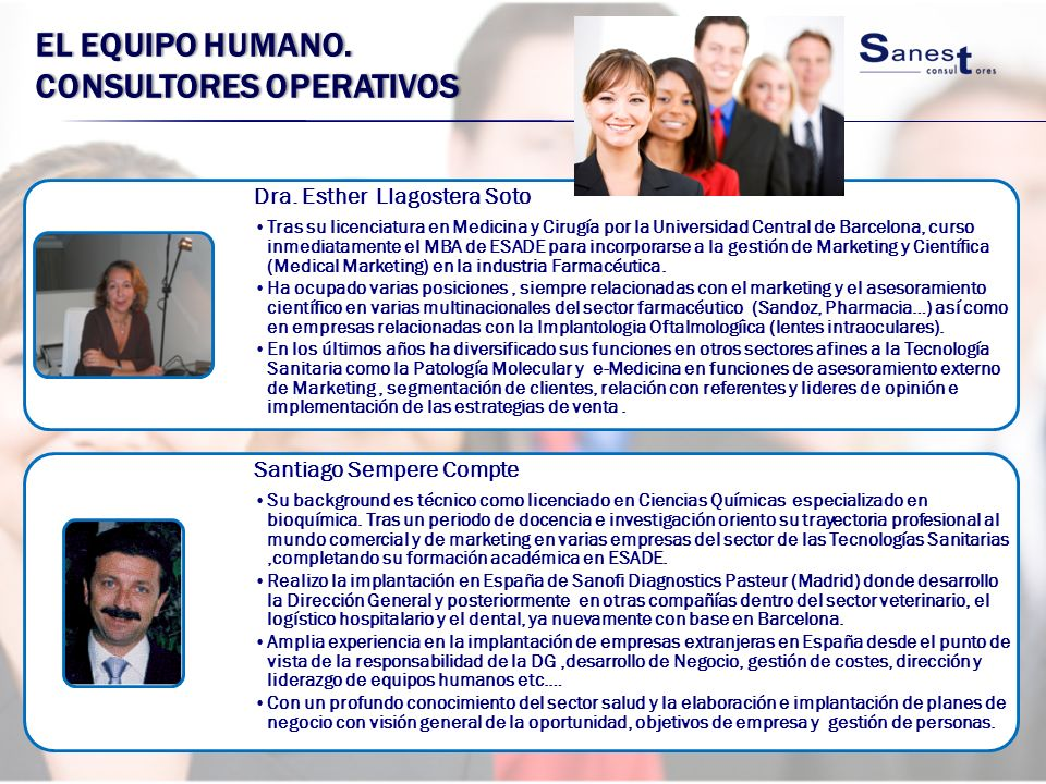 El equipo Humano. Consultores operativos
