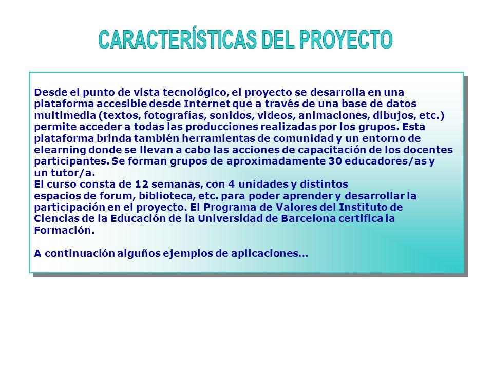 CARACTERÍSTICAS DEL PROYECTO