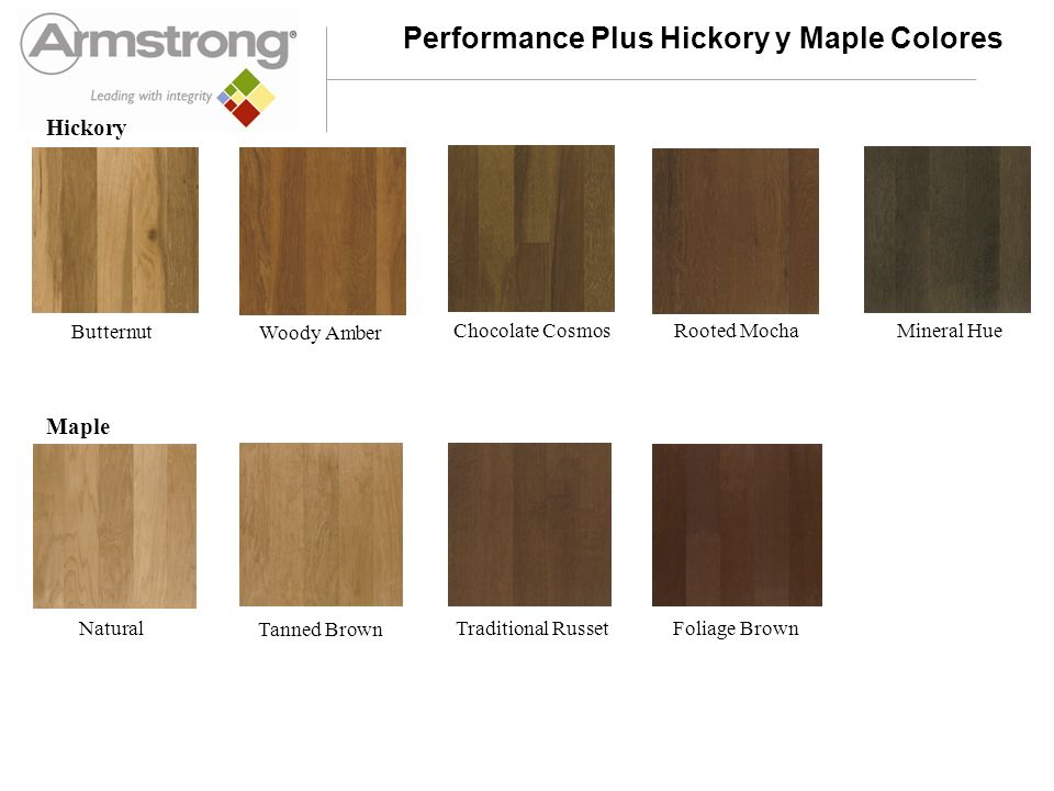 Performance Plus Birch y Cherry Colores