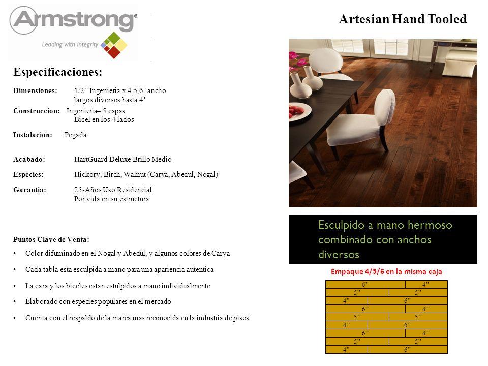 Artesian Hand-Tooled Birch & Walnut Colors