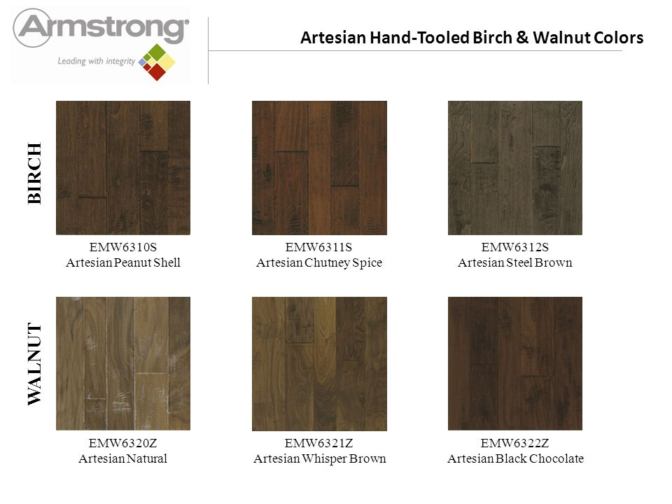 Artesian Hand-Tooled Hickory Colors