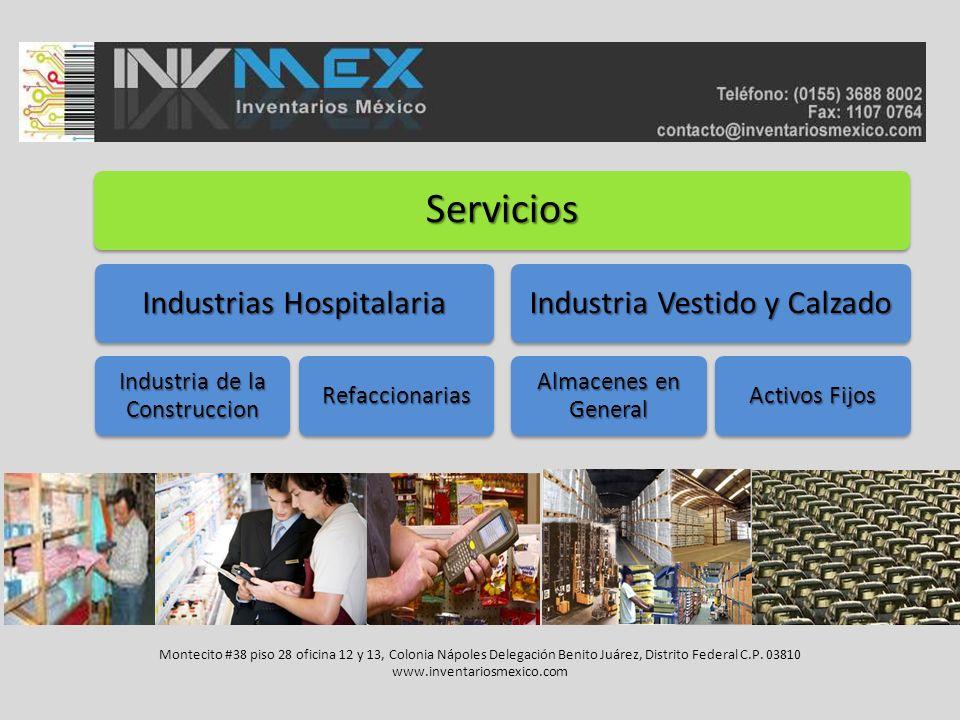 Servicios Industrias Hospitalaria Industria Vestido y Calzado