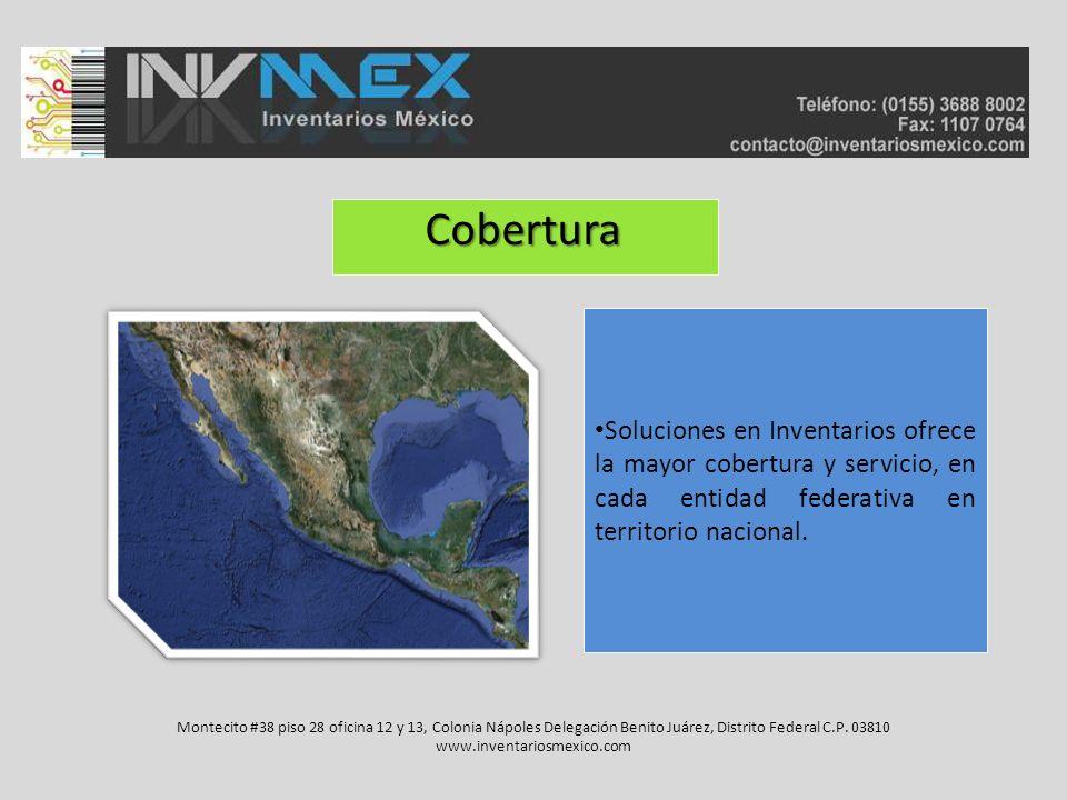 Cobertura Soluciones en Inventarios ofrece la mayor cobertura y servicio, en cada entidad federativa en territorio nacional.