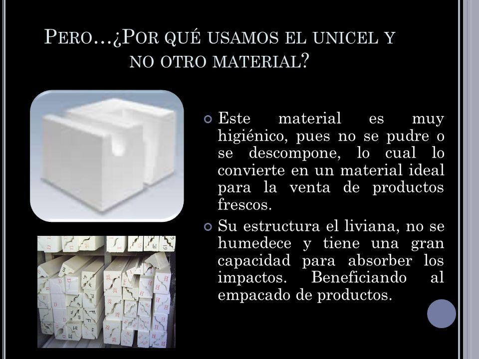 Pero…¿Por qué usamos el unicel y no otro material