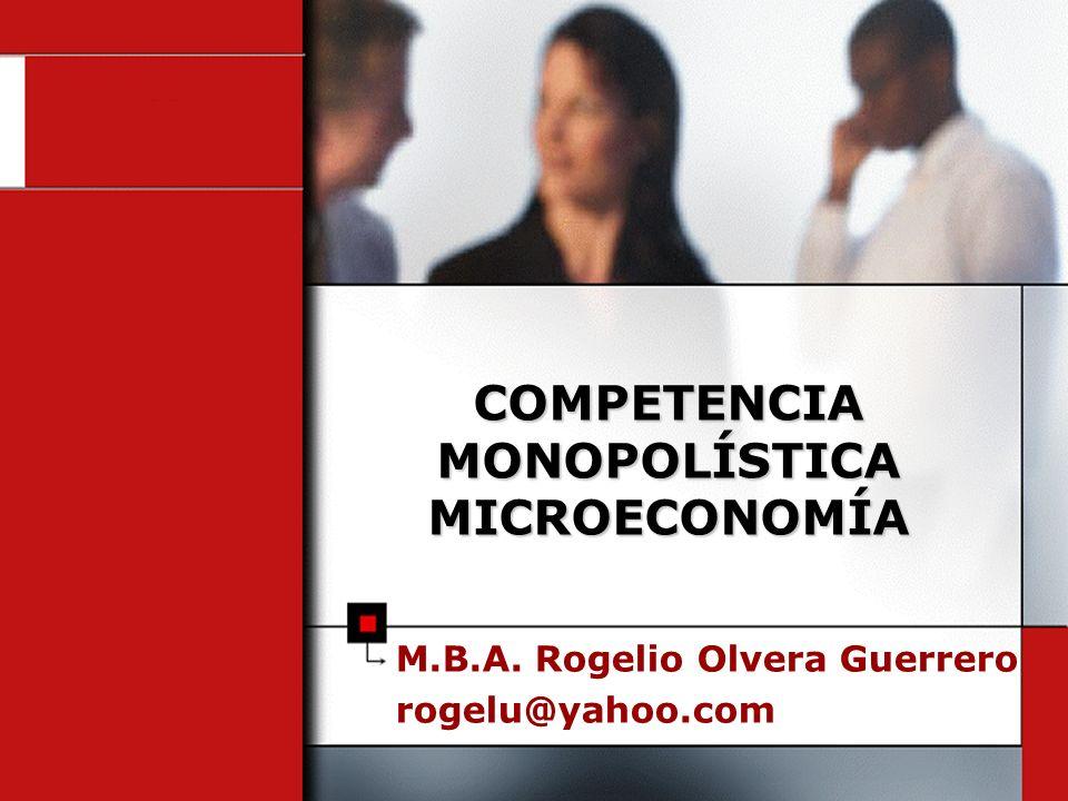 COMPETENCIA MONOPOLÍSTICA MICROECONOMÍA
