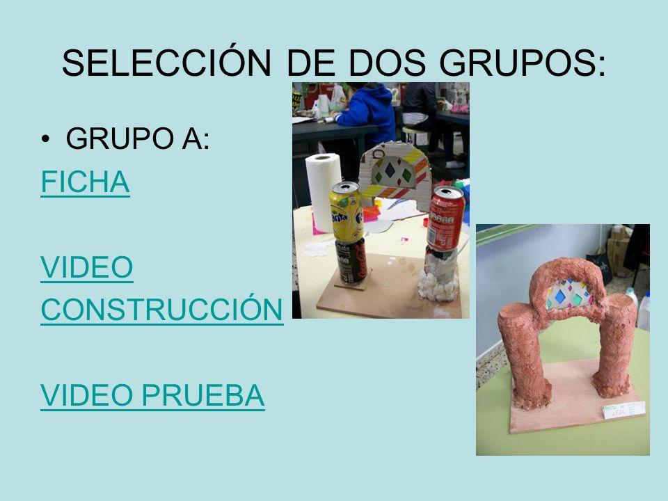 SELECCIÓN DE DOS GRUPOS: