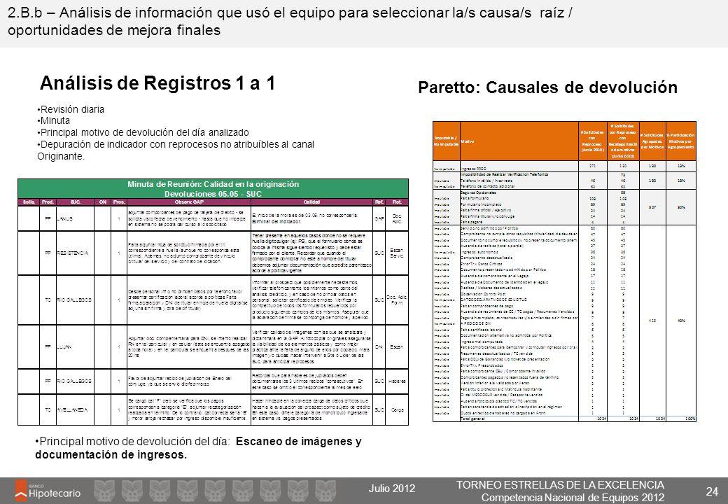 Análisis de Registros 1 a 1