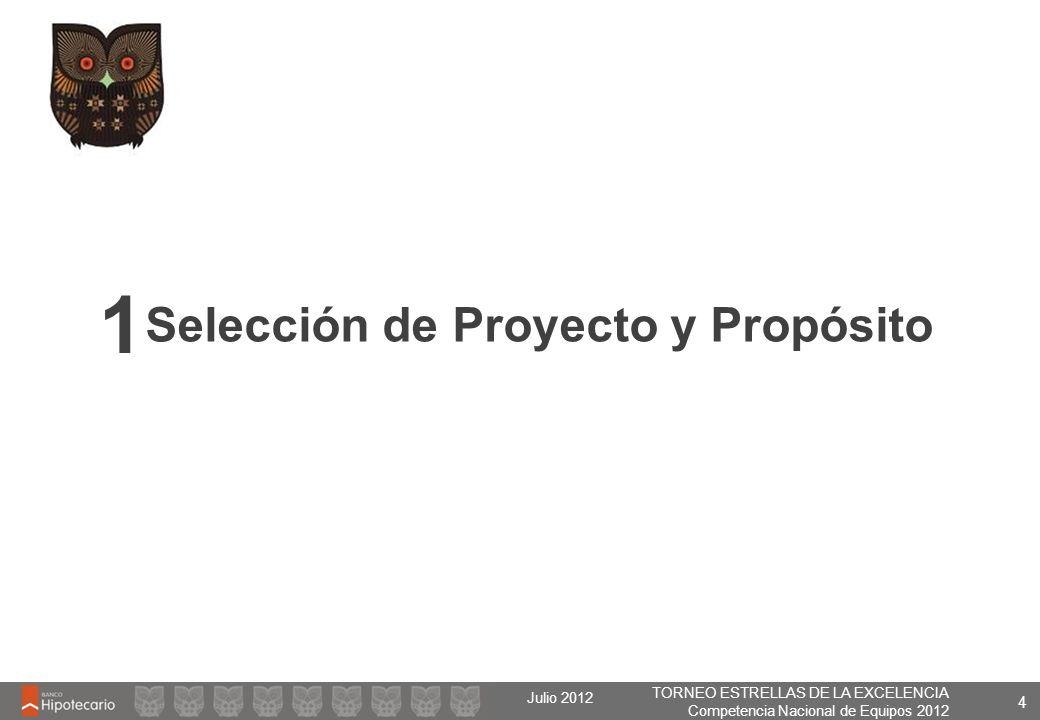 Selección de Proyecto y Propósito