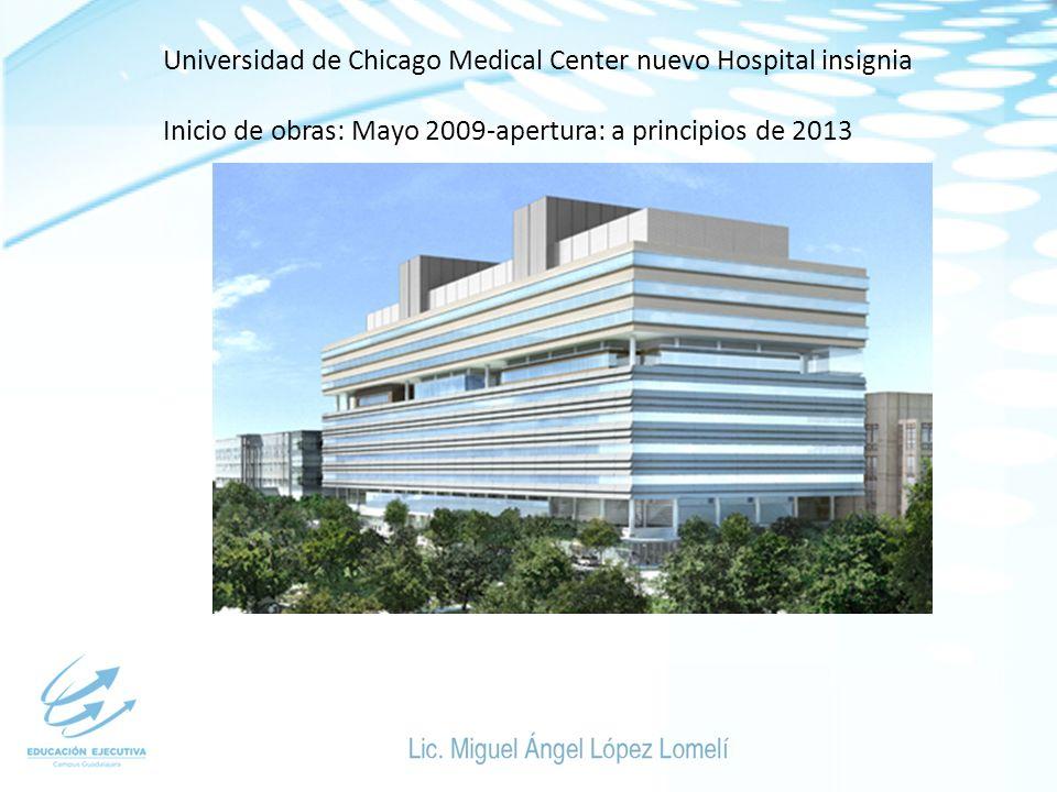 Universidad de Chicago Medical Center nuevo Hospital insignia