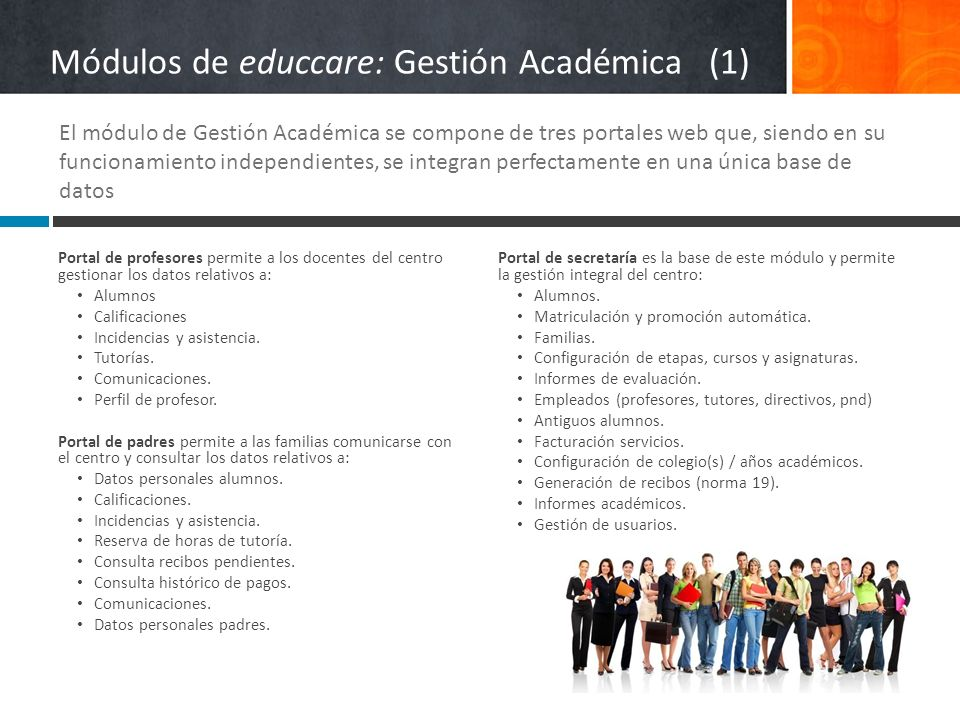 Módulos de educcare: Gestión Académica (1)