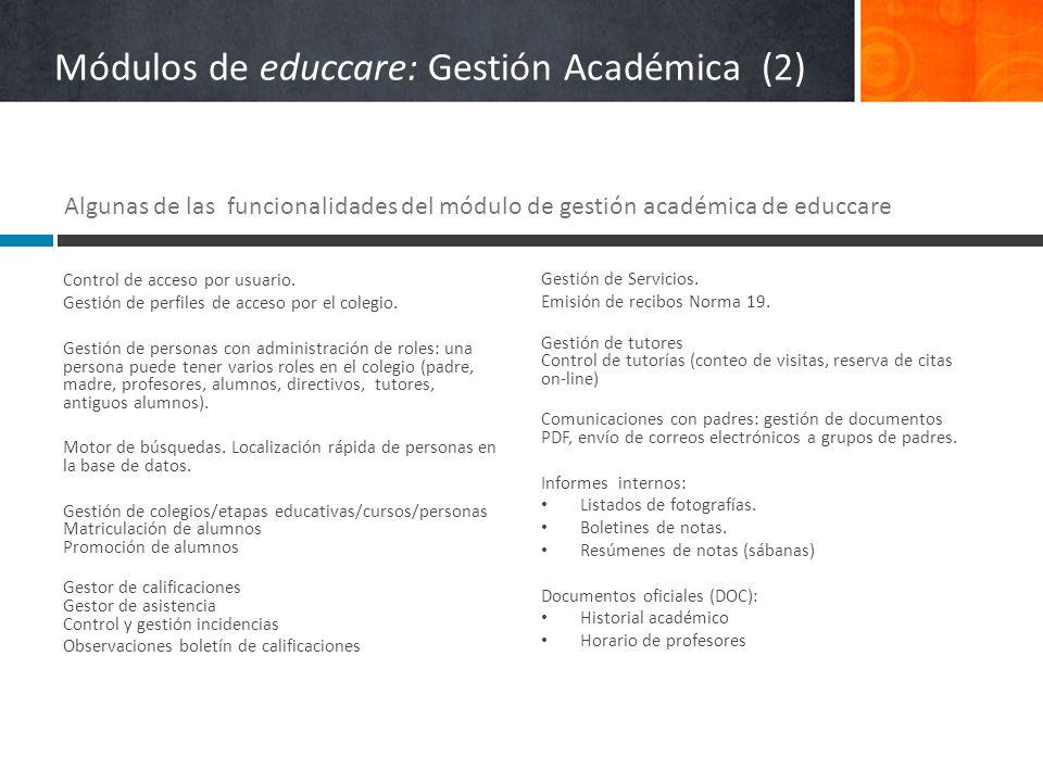 Módulos de educcare: Gestión Académica (2)