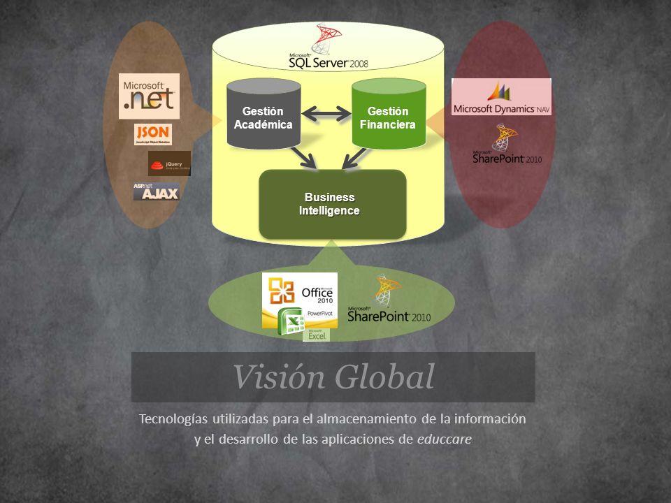 Business Intelligence. Gestión. Financiera. Académica. Visión Global. Tecnologías utilizadas para el almacenamiento de la información.