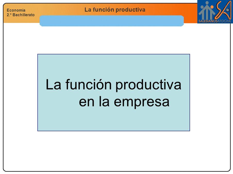 La función productiva en la empresa