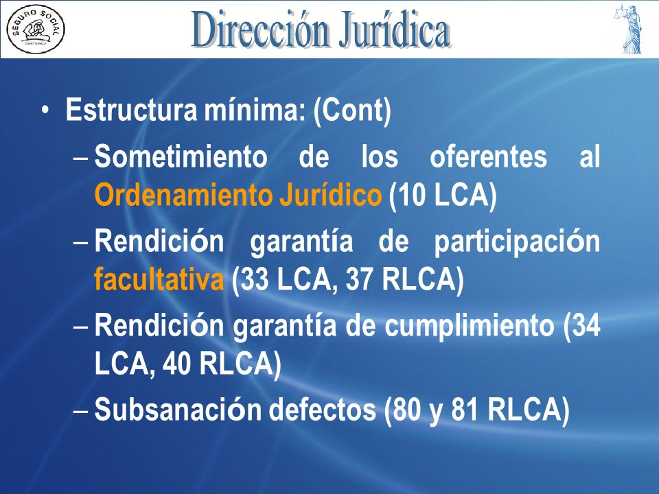 Estructura mínima: (Cont)