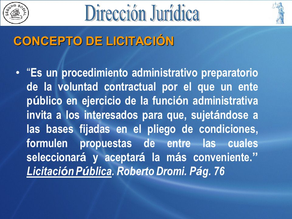 CONCEPTO DE LICITACIÓN