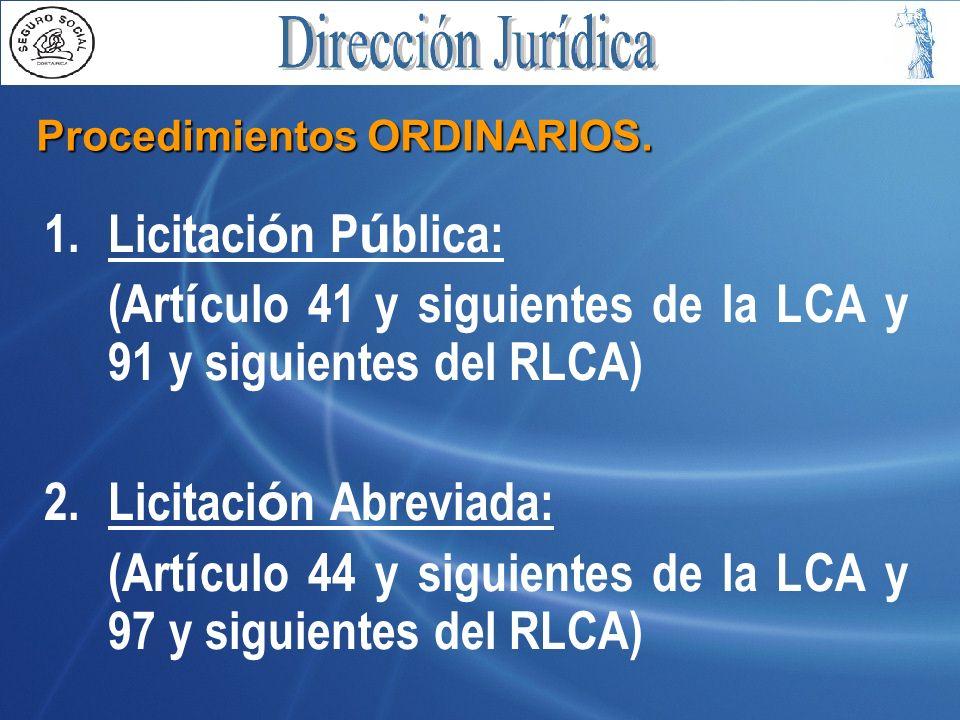 Procedimientos ORDINARIOS.