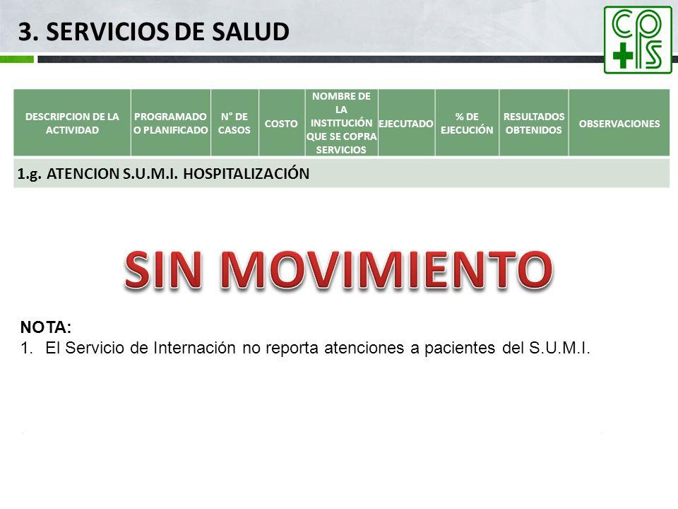 SIN MOVIMIENTO 3. SERVICIOS DE SALUD