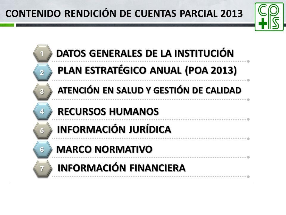 Contenido Rendición de Cuentas PARCIAL 2013