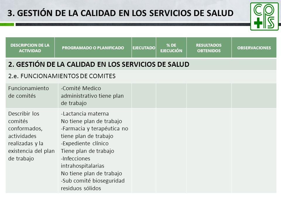 3. GESTIÓN DE LA CALIDAD EN LOS SERVICIOS DE SALUD