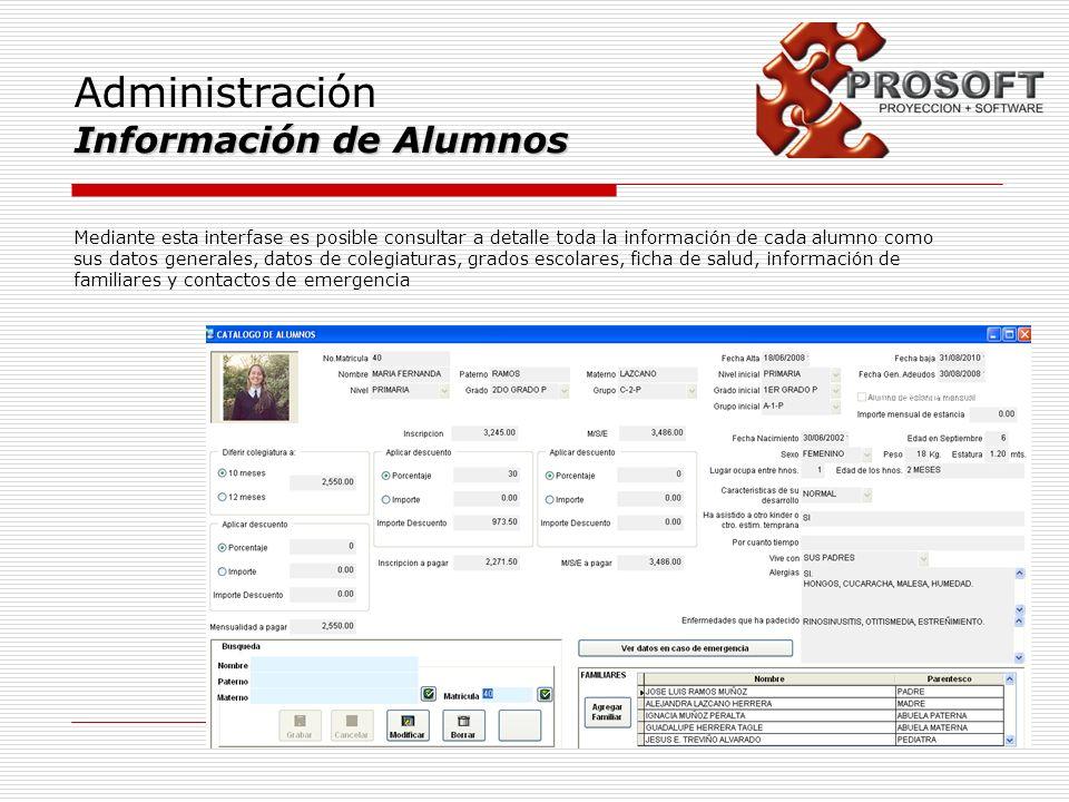 Administración Información de Alumnos